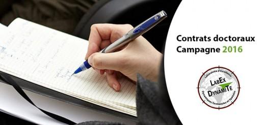 Contrat doctoraux - Campagne 2016 - LabEx DynamiTe