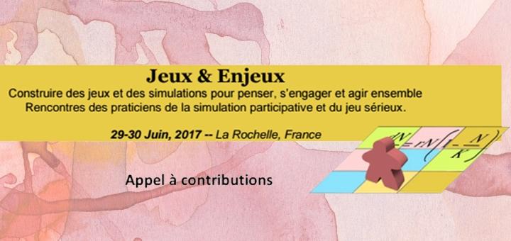 Appel à contribution - Jeux & Enjeux