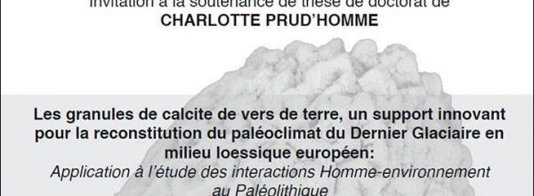 31/03/17 – Soutenance de thèse de Charlotte PRUD'HOMME, doctorante du LabEx DynamiTe
