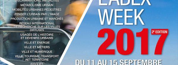 11-15/09/17 – 2e édition de la LABEX WEEK du LabEx Futurs Urbains