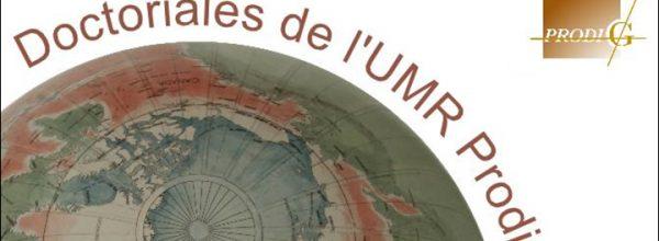 14/11/17 – Journée d'étude des doctorants de l'UMR PRODIG