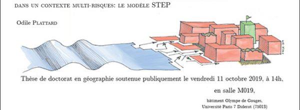 10/11/19 – Soutenance de thèse d'Odile PLATTARD, doctorante du LabEx DynamiTe