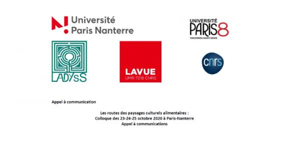 """Appel à communication – Colloque """"Les routes des paysages culturels alimentaires"""""""