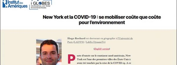 """New York et la COVID-19"" : un article signé Hugo ROCHARD"