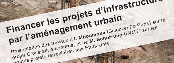 """13/10/2020 – Séminaire """"Financer les projets d'infrastructures par l'aménagement urbain"""""""