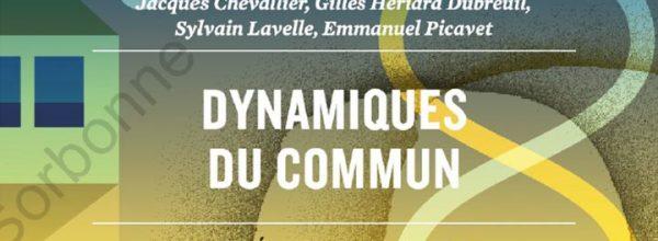 """02/03/2021 – Webinaire consacré à la publication de l'ouvrage """"Dynamiques du commun"""""""