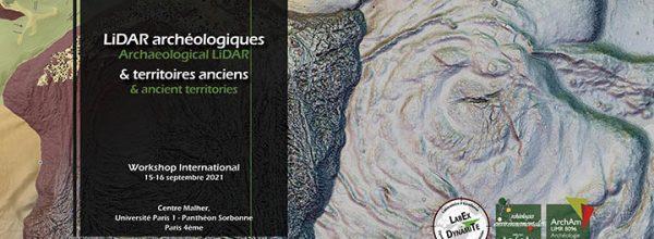 "15-16/09/2021 – Workshop international ""LiDAR archéologiques et territoires anciens"""