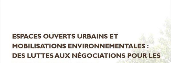 """25/10/2021 – Lancement du séminaire """"Espaces ouverts urbains et mobilisations environnementales"""""""