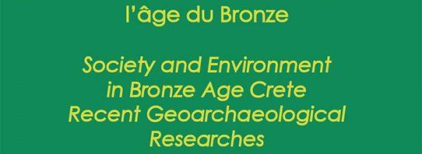 16/11/2021 – Journée d'étude «Société et environnement en Crète à l'âge du Bronze»